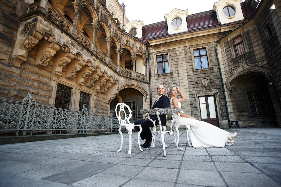 plener ślubny moszna zamek