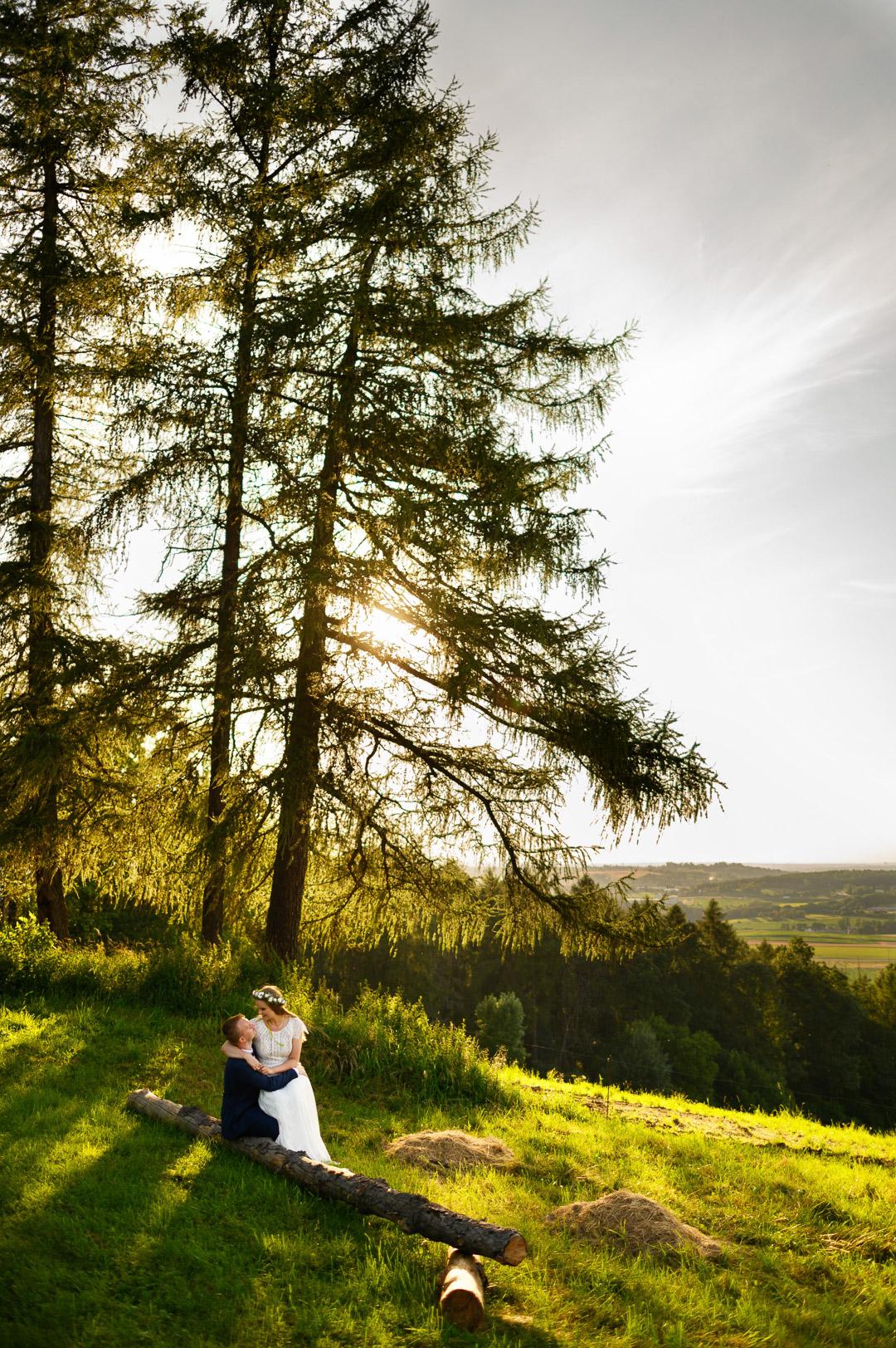 słoneczna sesja ślubna