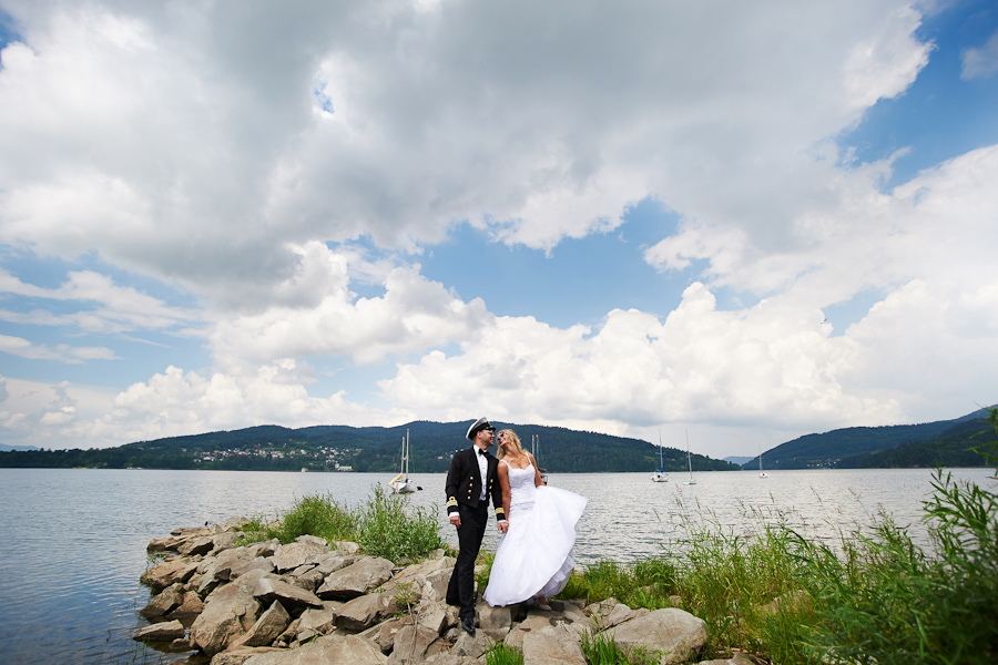 plener ślubny jezioro żywieckie
